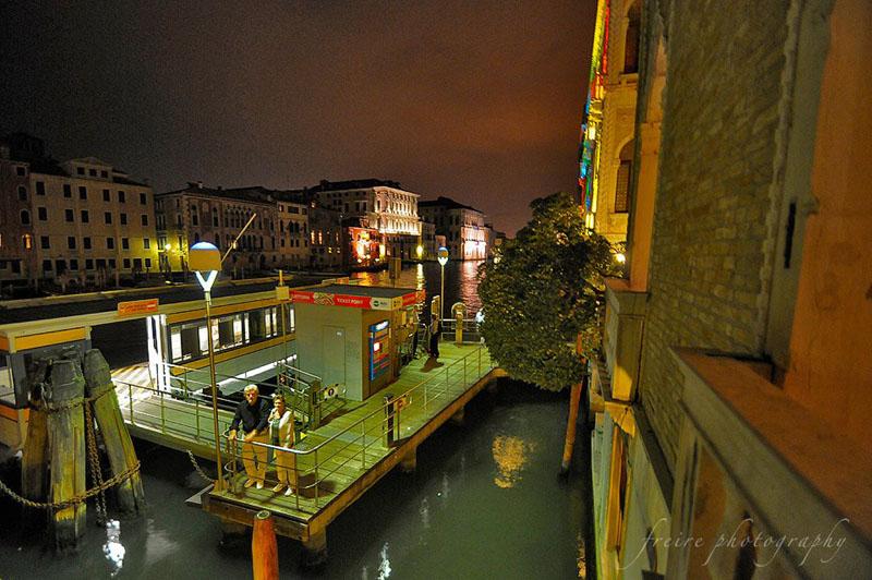 Night view from Pesaro Palace