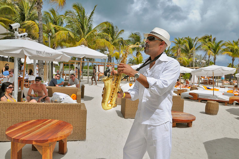 Nikki Beach Saxophone Player