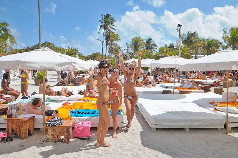 Girls at Nikki Beach Miami