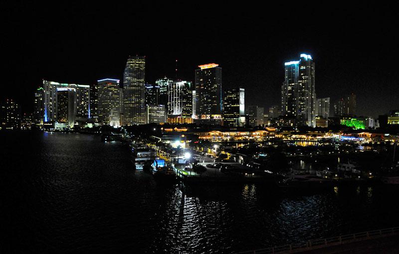 Miami Skyline at the night