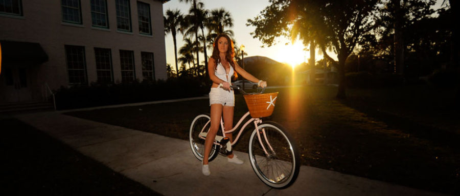 Delray Beach Girl with her bike