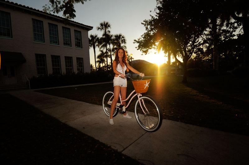 Delray Beach Girl with her bike