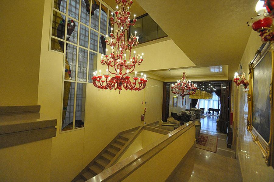 Pesaro Palace Venice chandeliers