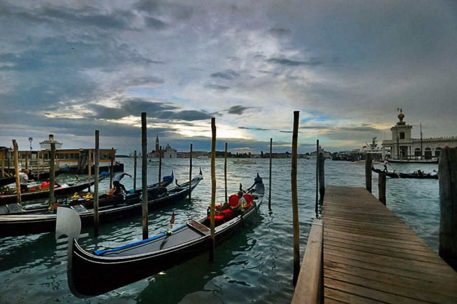Romantic Gondolas in Venice
