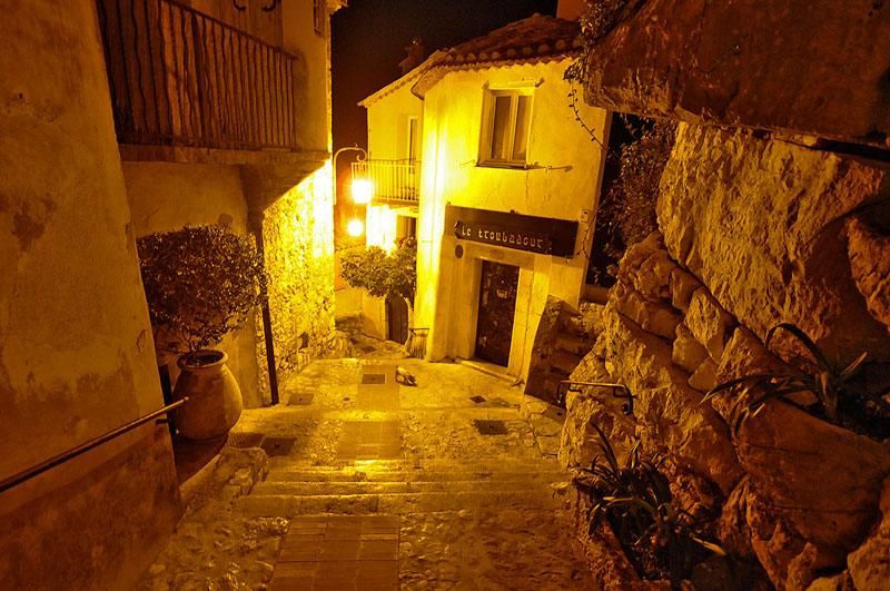 Éze Village at night