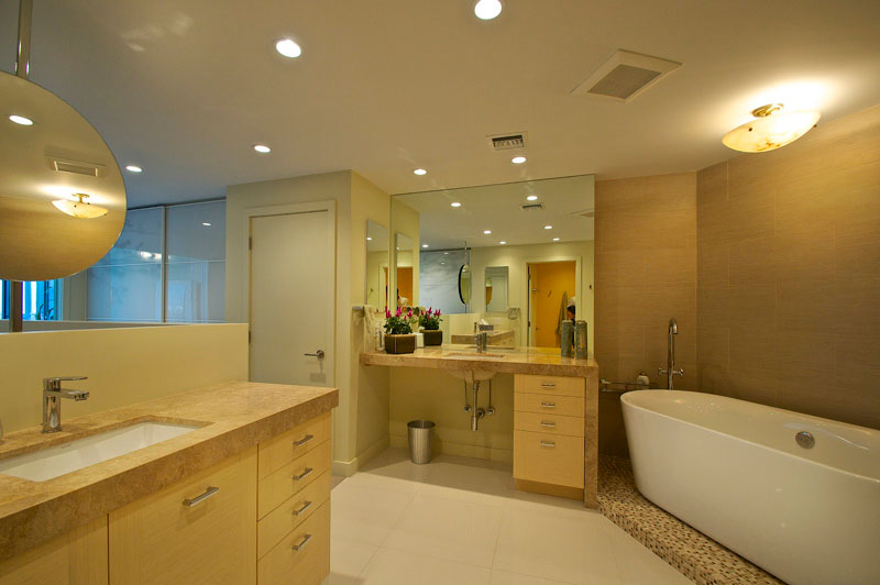 Palm Bay Tower Apartment Master Bathroom
