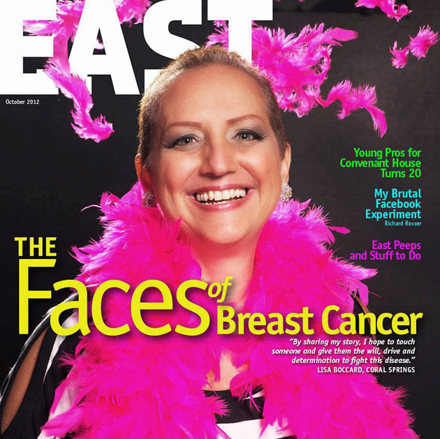 East Magazine Cover Cancer Survivor