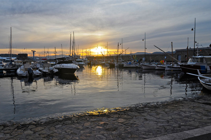 Saint Tropez at sunset time