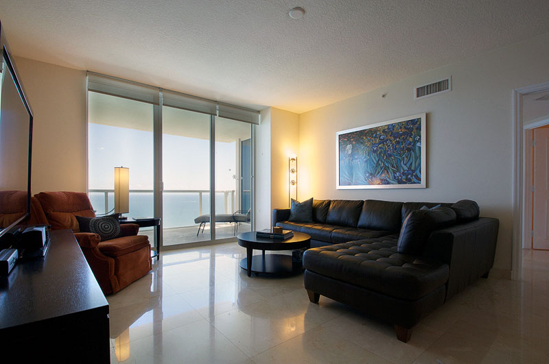 LaPerla Condo Miami living room