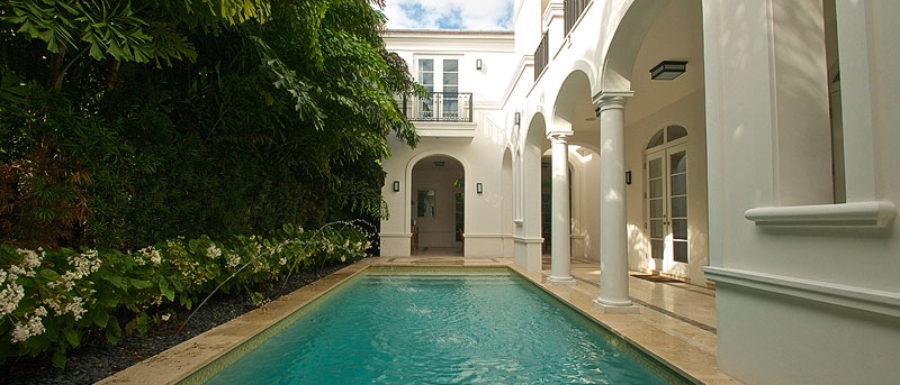 Miami Beach luxury house pool