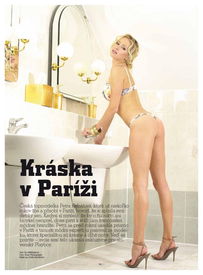 Petra Kubatova for Playboy