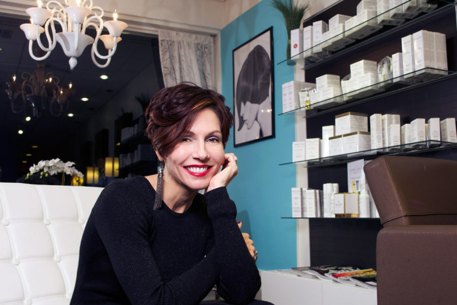 Carole Flamant in her salon in Miami