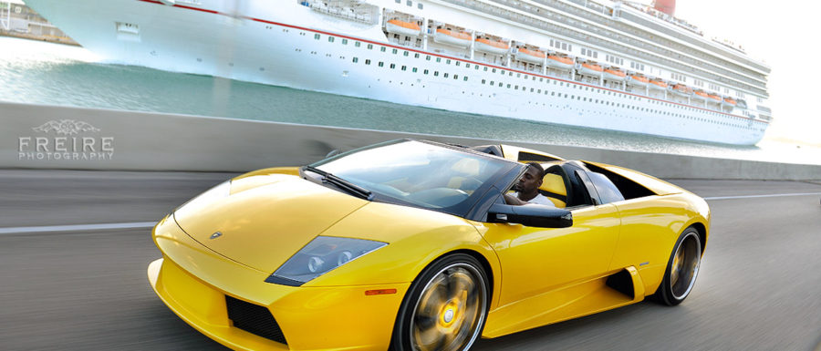 Thomas Jones in his Lambo