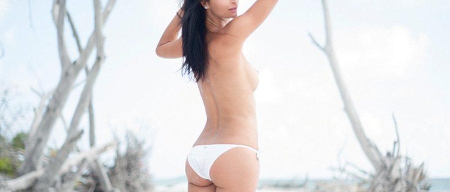 model Lex at secret beach