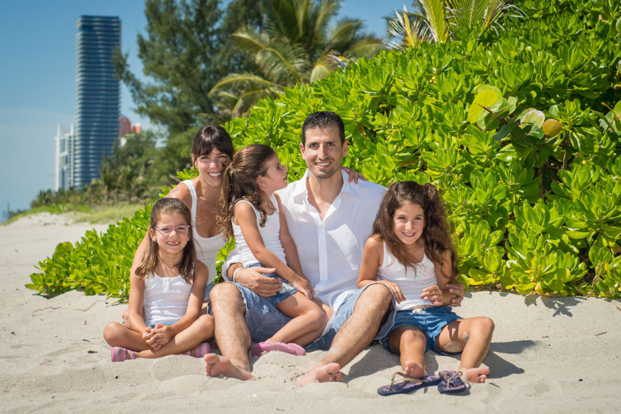 family portrait in Miami