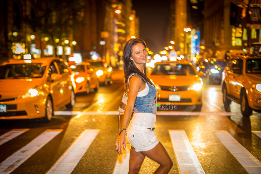 lex in manhattan and yellow cabs