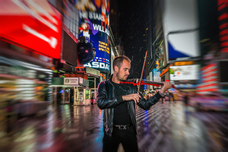 Peter Kiral from New York Virtuosi at Time Square